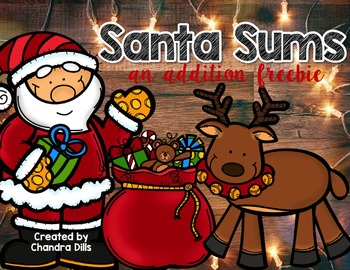 Santa Sums: An Addition to 20 Freebie