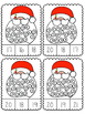 Santa Swirl Count and Clip Cards