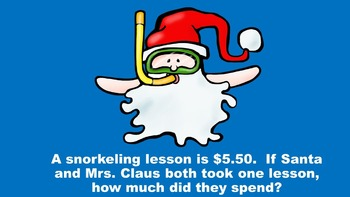 Santa Takes A Vacation - A Three Digit Addition/Subtraction PowerPoint Game