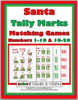 Tally Marks - Christmas Math