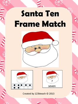 Santa Ten Frame Match