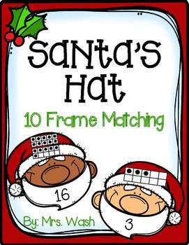 Santa Ten Frame Matching