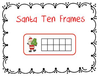 Santa Ten Frames
