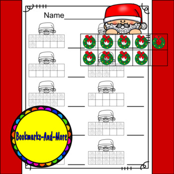 Santa Ten Frames/Number Recognition