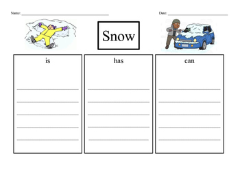 Writing a Paragraph about Snow, Santa, & Elves