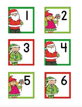 Santa's Elves Themed Christmas Calendar Numbers