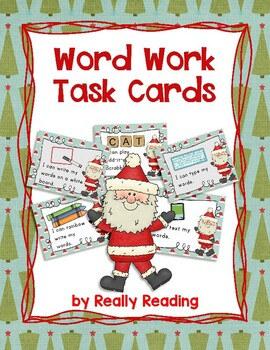 Santa Themed Word Work Task Cards