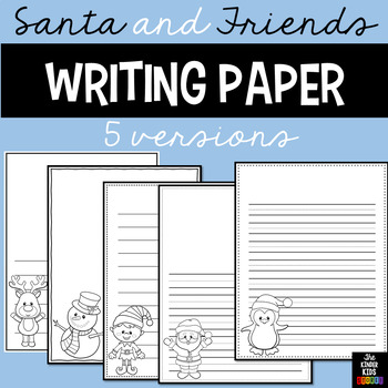 Santa Themed Writing Pages