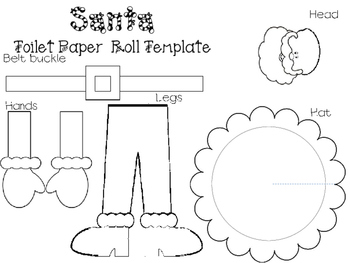 Santa Toilet Paper Roll Template