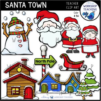 Santa Town Clip Art