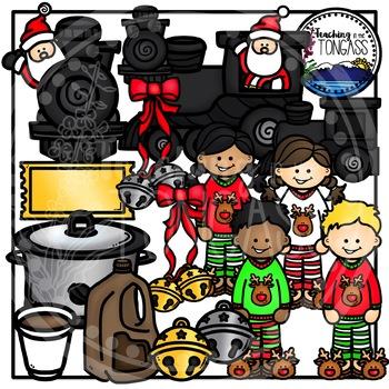 Santa Train Clipart (Christmas Clipart)