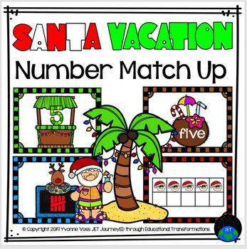 Santa Vacation Number Match Up