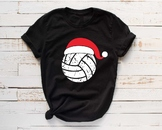 Santa Volleyball Hat Christmas svg Elf sweater ball mom tackle merry 1041s
