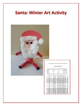 Santa: Winter Art Activity