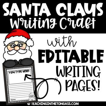 Christmas Craft   Santa Craft & Christmas Writing Activity