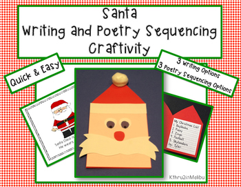 Santa Writing and Poetry Craftivity