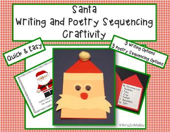 Santa Writing and Poetry Craftivity