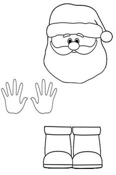 Santa and Elf Applications Craftivity