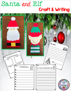 Santa and Elf Craft and Writing