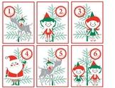 Santa and Elves Advent Calendar Clip Art Activity