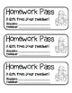 """Santa and Elves"" Homework Pass –Holiday FUN! (full color"
