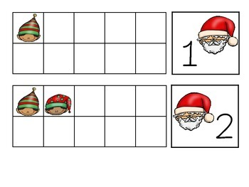 Santa and Elves Ten Frames