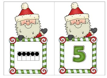 Santa and Elves Working with Numbers and Number Words