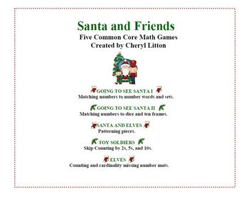 Santa and Friends Ready  5 Common Core Ready To Go Games