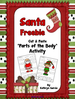 Santa and His Elf Labeling FREE Parts of the Body Activities