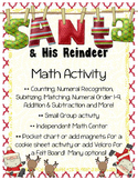 Santa and His Reindeer MATH Activities