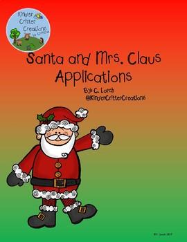 Santa and Mrs. Claus Applications