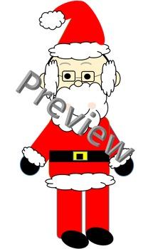 Santa and Mrs Claus Christmas Clip Art