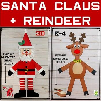 Santa and Reindeer Craft + Writing