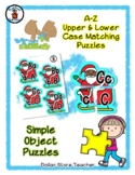 Santa and Sleigh - Alphabet / Letter Puzzles - Simple Objects