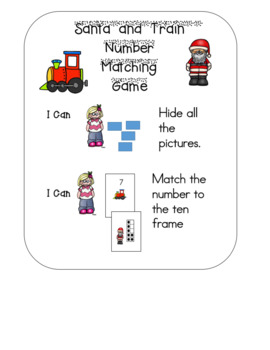 Santa and Train Number and Ten Frame Matching Game