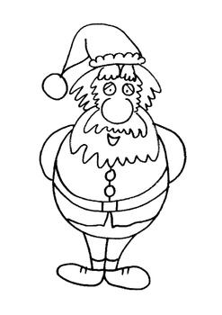Santa and his Elves - Coloring Sheets