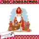 Santa around the World Clip art