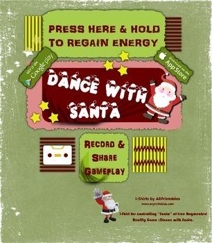 Santa controller image for Dance With Santa AR free app, DIY printable t-shirts