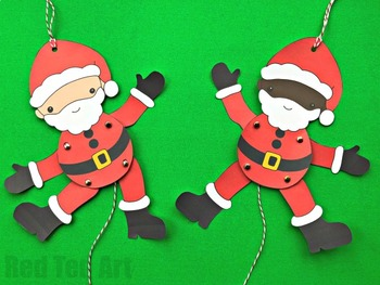 Santa Puppet for Christmas Fun - STEAM Craft Activity (Lesson Plan & Printable)