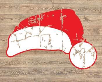 Santa hat svg ho ho ho prop Santa Hat deer hat clipart merry Christmas 967s