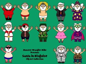 Santa in Disguise Clip Art Collection