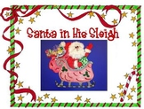 Santa in His Sleigh Christmas Art Project