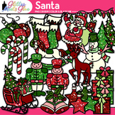 Santa Clip Art {Soldier, Presents, Stockings, Candy Canes, Stockings, & Sleigh}
