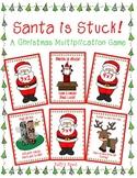 Santa is Stuck!    A Christmas Multiplication Game