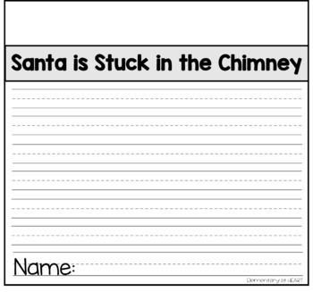 Santa is Stuck Writing Craft for Bulletin Board