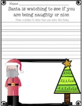 Santa is Watching Writing Activity