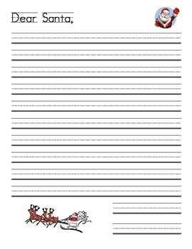 santa letter template teaching resources teachers pay teachers