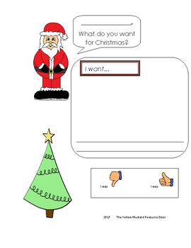 Santa letter- write a word and draw a picture