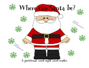 Santa positional word sight word reader