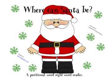 Santa positional word sight word reader